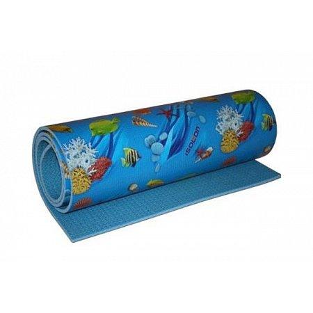 Коврик ижевский (каремат) Изолон Decor Океан (8 мм, 180 x 55 см, 33 кг/м3, одноцвет)