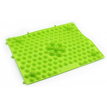 Коврик-пазл ортопедический массажный резиновый (1шт) ZD-4601-G (резина, р-р 38,5см x 28см, зеленый)