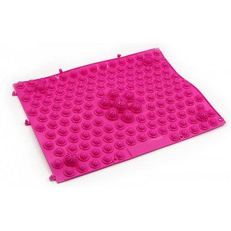 Коврик-пазл ортопедический массажный резиновый (1шт) ZD-4601-P (резина, р-р 38,5см x 28см, розовый)