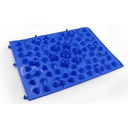 Коврик-пазл ортопедический массажный резиновый (1шт) ZD-5082-B (резина, р-р 38см x 27см, синий)