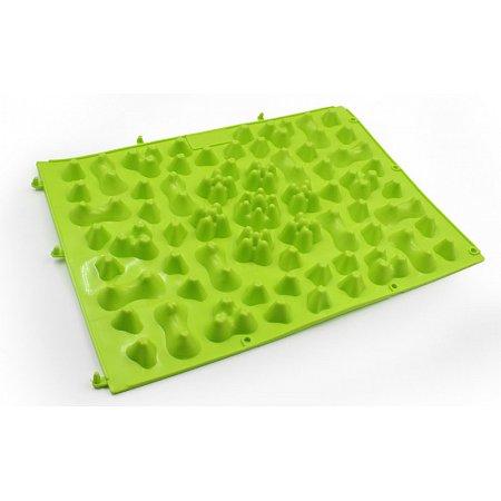 Коврик-пазл ортопедический массажный резиновый (1шт) ZD-5082-G (резина, р-р 38см x 27см, зеленый)