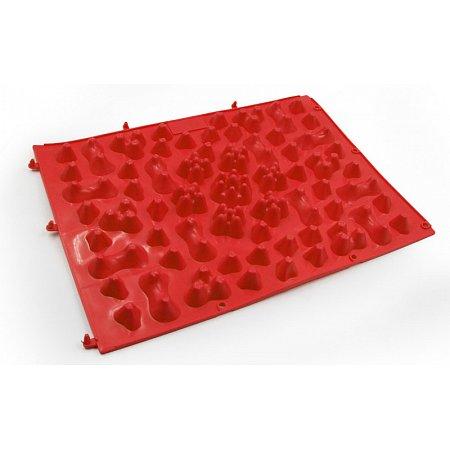 Коврик-пазл ортопедический массажный резиновый (1шт) ZD-5082-R (резина, р-р 38см x 27см, красный)