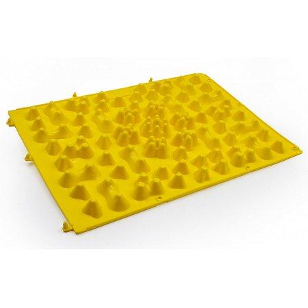 Коврик-пазл ортопедический массажный резиновый (1шт) ZD-5082-Y (резина, р-р 38см x 27см, желтый)