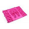 Коврик-пазл ортопедический массажный резиновый магнитный (1шт) ZD-5080-P (р-р 39см x 28см, розовый)