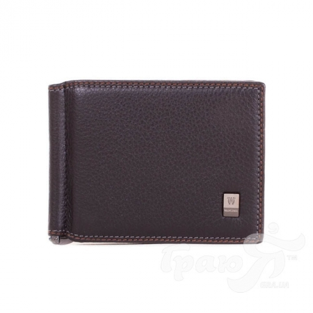 Кожаный мужской зажим для купюр WANLIMA (ВАНЛИМА) W12047550967-black
