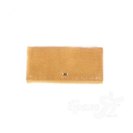Кожаный женский кошелек WANLIMA (ВАНЛИМА) W21407390013-beige