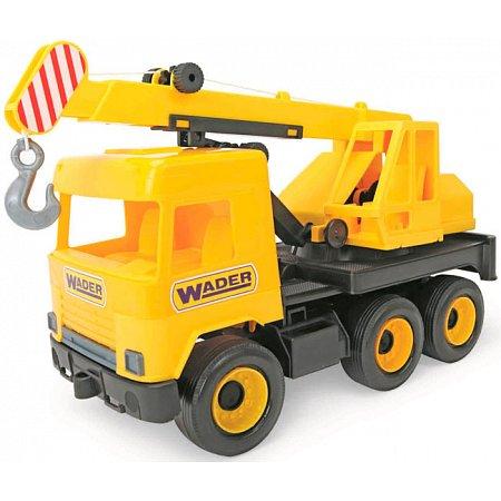 Кран (38 см), Middle Truck, желтый, Wader, 39491