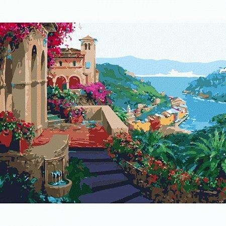 Красочная бухта, серия Городской пейзаж, рисование по номерам, 40 х 50 см, Идейка, Красочная бухта (MG1093)