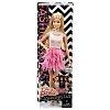 Кукла Барби Модница (блондинка, розовая юбка-перья, розовый топ) Barbie, Mattel, блондинка, розовая юбка-перья, розов топ, DFT85-8