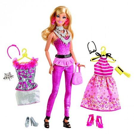 Кукла Барби с набором Большой гардероб в ассорт. (2), Y7499