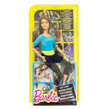 Кукла Барби, серия Двигайся как я, в бирюзовой кофточке, Barbie, Matell, бирюзовая кофточка, DHL81-4