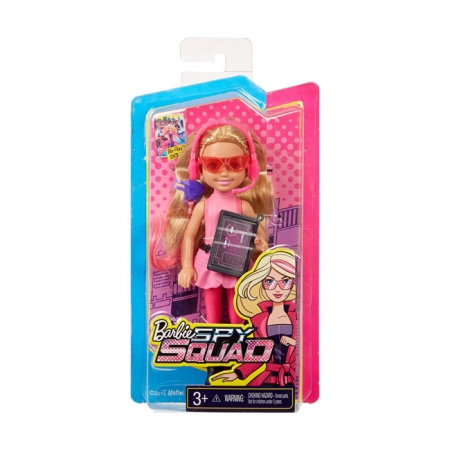 Кукла Челси, блондинка в розовом, серия Шпионская история, Barbie, Mattel, в розовом, DHF09-1