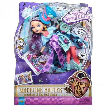 Кукла из мультфильма Приключения в Стране Чудес, Ever After High, Mattel, Дочь Безумного Шляпника (CJF39-4)
