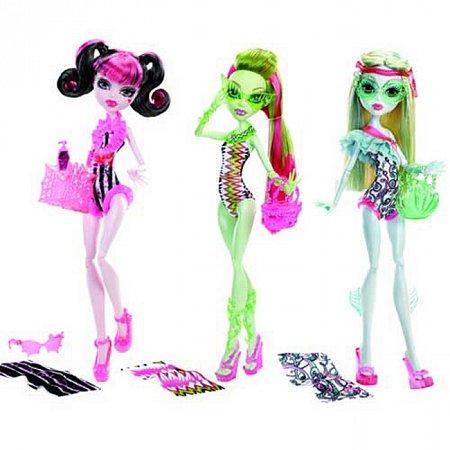 Кукла Monster High Пляжная вечеринка в ассорт. (3), У7302