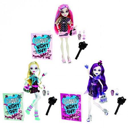 Кукла Monster High серии Монстро-ночка в городе в ассорт. (3), BBC09