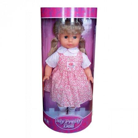 Кукла мягконабивная 45 см в розовом платье, Lotus Onda, в летнем платье, 18696-3