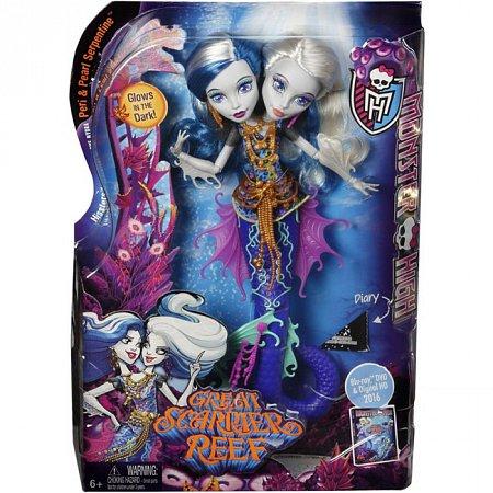 Кукла Пери и Перл, из м/ф Большой кошмарный риф, Monster High, DHB47