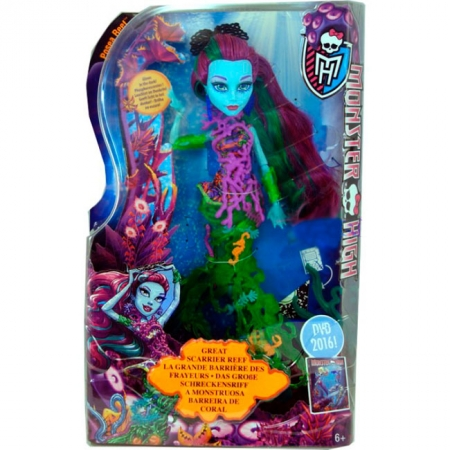 Кукла Подводный монстр серии Большой ужасный риф, Monster High, Поси Риф, DHB50-2