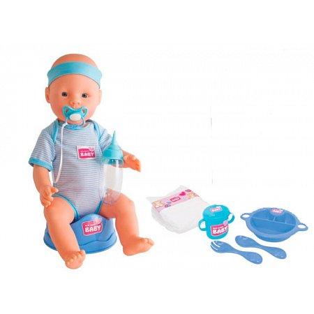 Кукла-пупс Симба Уход за малышом, 43 см, New Born Baby, 503 0044