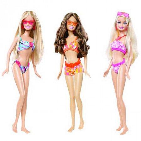 """Кукла серии """"Пляж"""" Барби в ассорт., Ж6937 Mattel"""