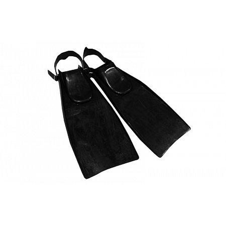 Ласты с открытой пяткой Турист (пяточный ремень) UR PL-3790 (р-р 39-43, резина, черный)