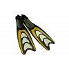 Ласты с закрытой пяткой (калоша цельная) 432 DORFIN PL-432-M (р-р М-38-39, жёлтый, синий, серебро)