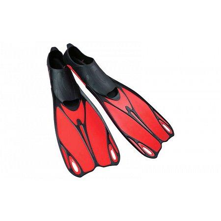 Ласты с закрытой пяткой (калоша цельная) 436 DORFIN PL-436-XL (р-р XL-44-45, жёлтый, синий, красный)