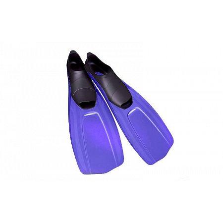 Ласты с закрытой пяткой (калоша цельная) 437 DORFIN PL-437-ML (р-р МL-40-41, жёлтый, синий, серый)