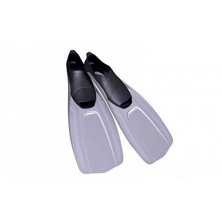 Ласты с закрытой пяткой (калоша цельная) 437 DORFIN PL-437-XL (р-р XL-44-45, жёлтый, синий, серый)