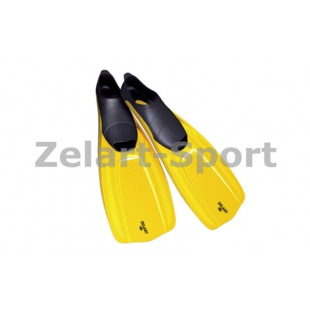 Ласты с закрытой пяткой (калоша цельная) 437 ZEL ZP-437-M (р-р M-38-39, жёлтый, синий, серый)