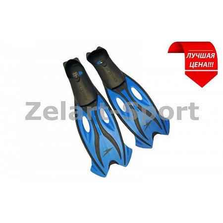 Ласты с закрытой пяткой (калоша цельная) SPEEDO 8016523922-35-36 (р-р 35-36, серый-голубой)