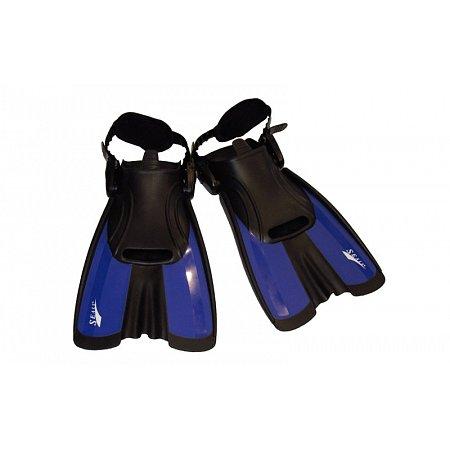 Ласты тренировочные с открытой пяткой (пяточный ремень) SEALS F16-B(S) (р-р S-34-38, синий)