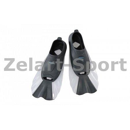 Ласты тренировочные с закрытой пяткой (калоша цельная) SPEEDO 8073620309-40-41 (р-р40-41,черн-белый)