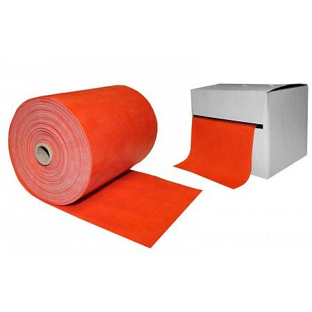 Лента для пилатеса в рулоне (эласт. лента) (р-р 25м x 15см x 0,35мм) FI-2658-25 (силикон, оранжевый)