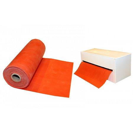 Лента для пилатеса в рулоне (эласт. лента) (р-р 5,5м x 15см x 0,35мм) FI-2658-5,5 (силик, оранжевый)