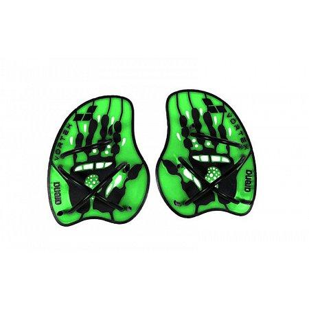 Лопатки кистевые для плавания ARENA AR-95232-65-L VORTEX EVOLUTION PADDLE (TPR,силикон,р-р L, черно-зелен)