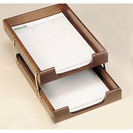Лоток для бумаг Bestar двойной, орех (1468XDX)
