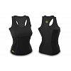 Майка для фитнеса (похудения) HOT SHAPERS черный FI-4818-BK (неопрен, сетка)