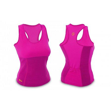 Майка для фитнеса (похудения) HOT SHAPERS малиновый FI-4818-P (неопрен, сетка)