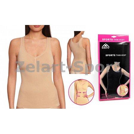 Майка утягивающая (корректирующая) Thin vest ST-9161-S(2XL-3XL) (р-р 2XL-3XL,нейлон, эласт,телесный)