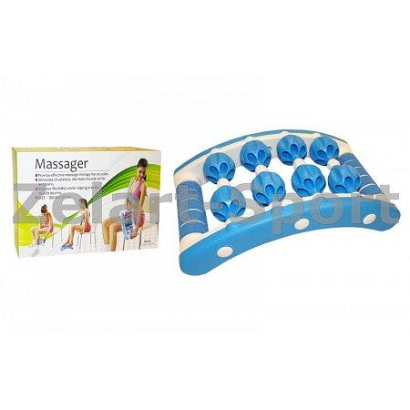 Массажер-прямоугольник роликовый 8 шариков PS MS-01 MASSAGER (пластик, р-р 21x35см,8 массажных шар.)