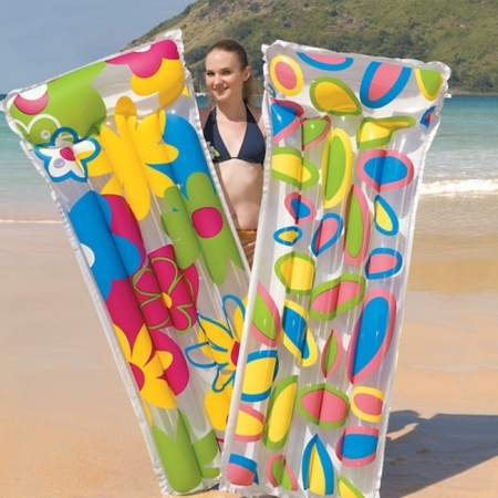 Матрас надувной пляжный Deluxe ComfFlowerMat, Bestway 44021(183x76 см)