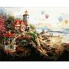 Маяк на закате, Серия Пейзаж, рисование по номерам, 40 х 50 см, Идейка, маяк на заходе солнца (MG1095)