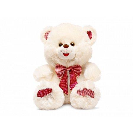 Медведь с красным бантом - мягкая игрушка (музыкальная, 28 см), Lava, LF660B