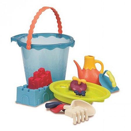 Мега-ведерце Море (9 предметов), набор для игры с песком и водой, Battat, BX1444Z