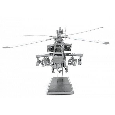 Металлическая сборная 3D модель AH-64 Apache, Metal Earth (MMS083)