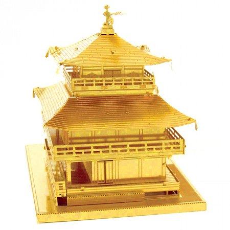 Металлическая сборная 3D модель Gold Kinkaku-ji, Metal Earth (MMS090G)