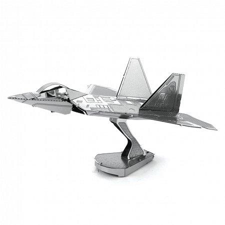 Металлическая сборная 3D модель Истребитель F-22 Raptor, Metal Earth (MMS050)