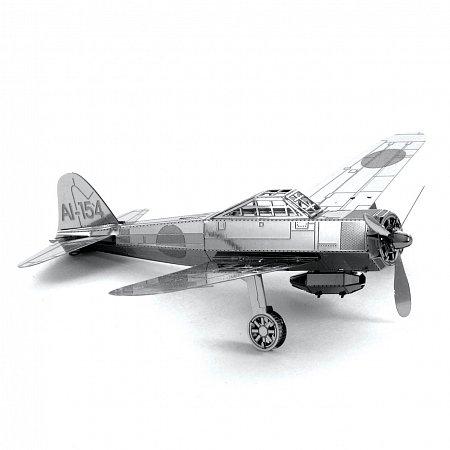 Металлическая сборная 3D модель Истребитель Mitsubishi Zero, Metal Earth (MMS028)