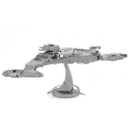 Металлическая сборная 3D модель Klingon Vorcha, Metal Earth (MMS283)
